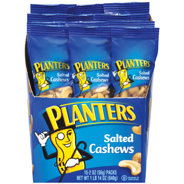 Planters Salted Cashews 15-2 oz. Bags