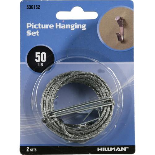Hillman Zinc Picture Hanging Kit (50lb)