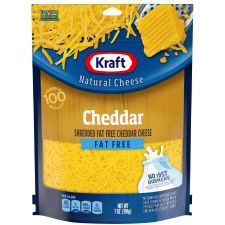 Kraft Fat Free Natural Cheddar Cheese 7 oz Pouch