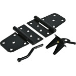 Hardware Essentials Black Heavy Duty Gate Hardware Kit