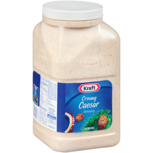 KRAFT Creamy Caesar Salad Dressing, 1 gal. Jugs (Pack of 4) image