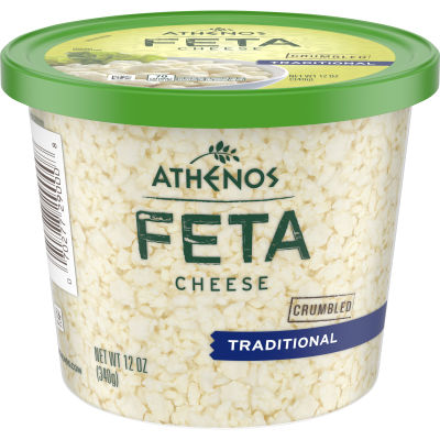 Athenos Crumbled Traditional Feta Cheese 12 oz Tub