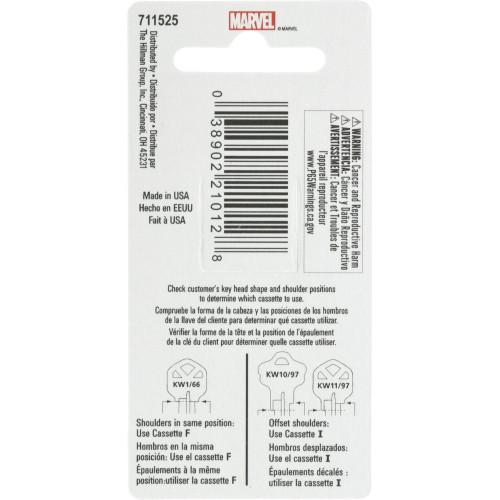 Marvel's Iron Man Kwikset 66/97 KW1/10 Key Blank
