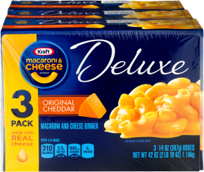 KRAFT Original Deluxe Macaroni & Cheese Dinner 42 oz Wrapped image