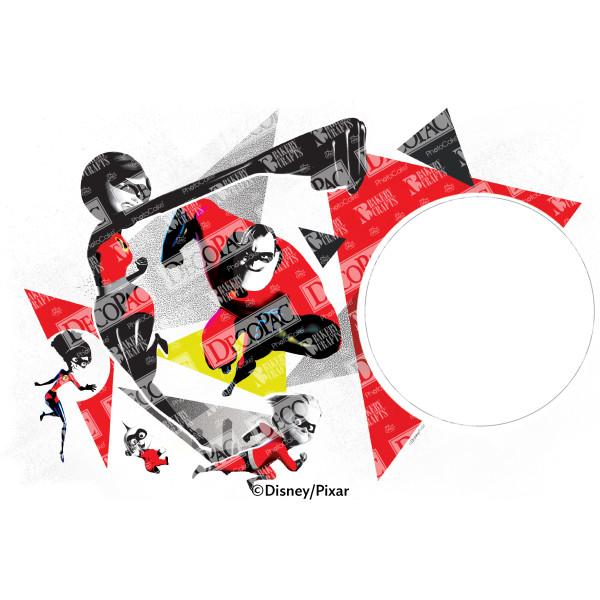Incredibles 2 Family Hero Work PhotoCake® Edible Image® Frame