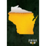 "Aluminum Drink Local WI Beer Sign 10"" x 14"""
