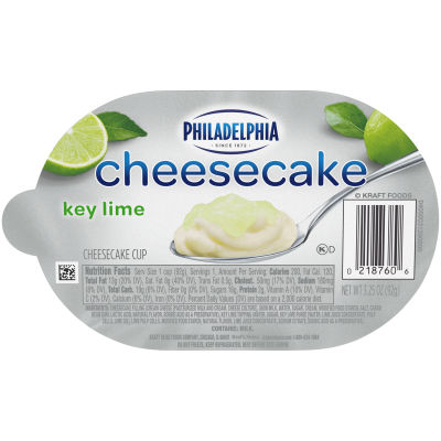 Philadelphia Key Lime Cheesecake Refrigerated Snacks 3.25 oz Cup