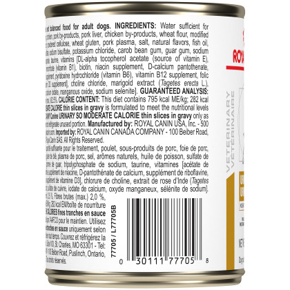 Royal Canin Veterinary Diet Canine Urinary SO Moderate Calorie Canned Dog Food