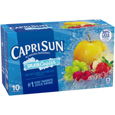 Capri Sun Splash Cooler Mixed Fruit Flavored Juice Drink Blend, 10 - 6 fl oz Pouches