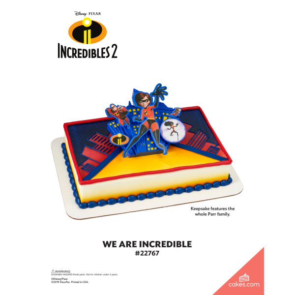 Incredibles 2 We are Incredible DecoSet® The Magic of Cakes® Page