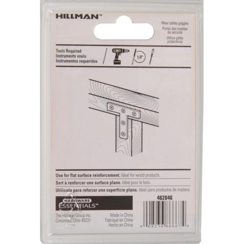 Hardware Essentials T-plates Zinc 2-1/2