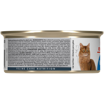 Royal Canin Feline Care Nutrition Weight Care Canned Cat Food