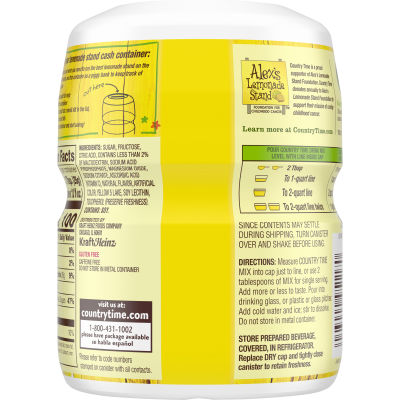 Country Time Lemonade Flavored Powder Drink Mix 19 oz Container