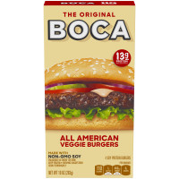 BOCA All American Classic Veggie Soy Protein Burgers 10 oz Box image