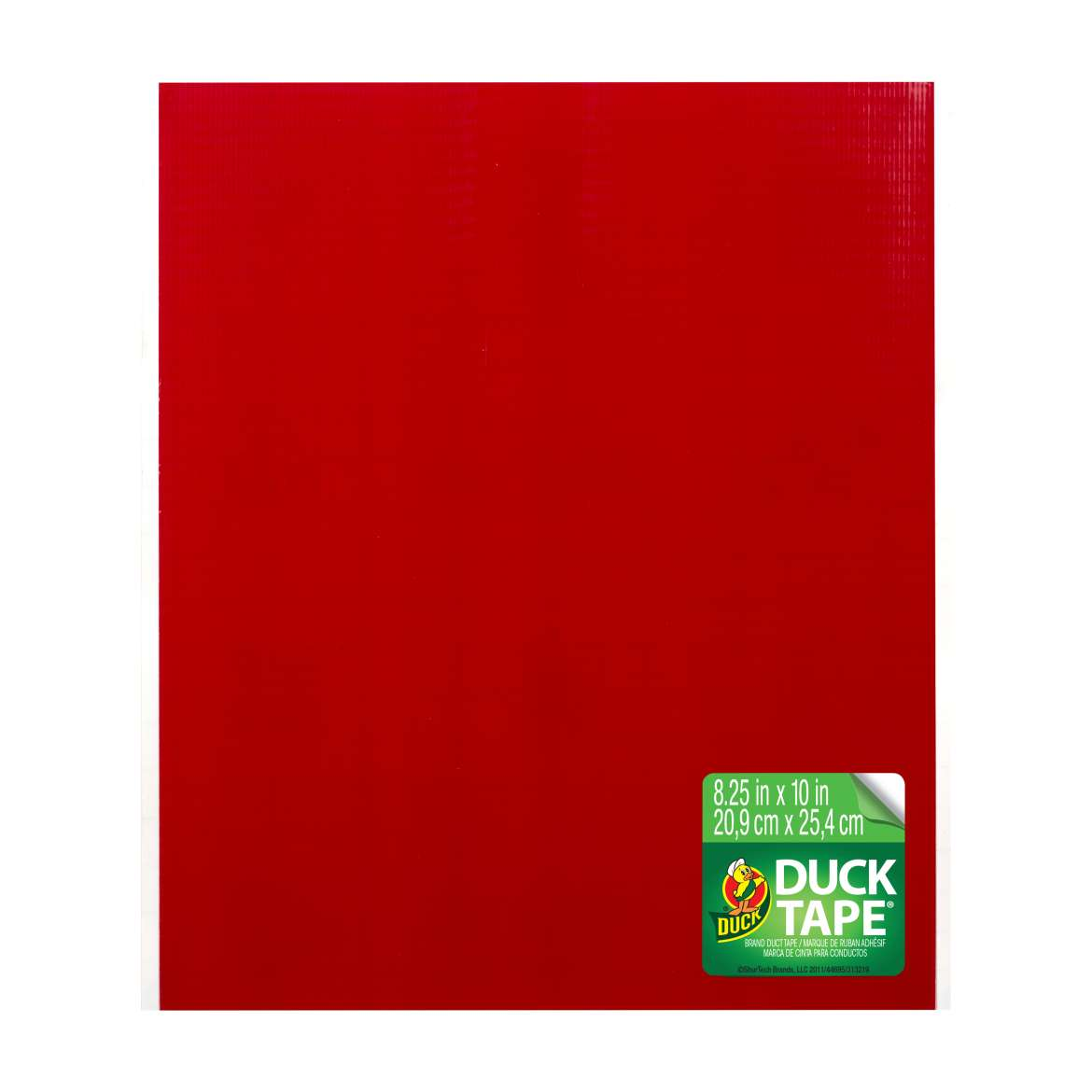 Color Duck Tape® Sheets - Red, 6 pk, 8.25 in. x 10 in. Image