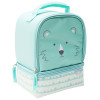 Soft Lines 2-compartment Reusable Insulated Lunch Bag, Teddy Bears slideshow image 3
