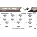 "Chrome Ball Bearings Assortment (1/16"" thru 5/16"")"