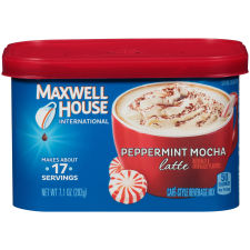 Maxwell House International Peppermint Mocha Latte, 7.1 oz Canister