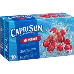CAPRI SUN Wild Cherry Pouch, 6 oz. Pouches (Pack of 40) image
