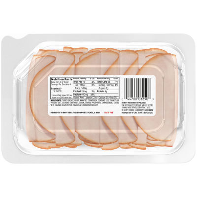 Oscar Mayer Deli Fresh Cracked Black Pepper Turkey Breast, 8 oz Package