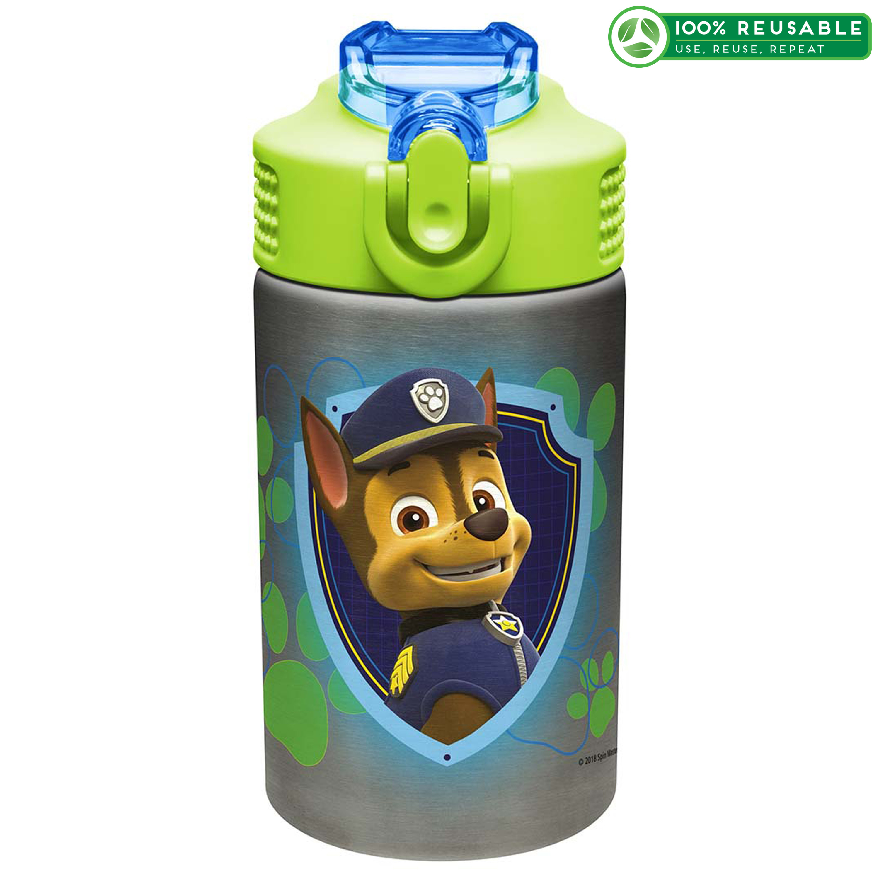 Paw Patrol 15.5 ounce Water Bottle, Chase and Marshall slideshow image 1