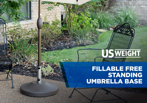 Fillable Free Standing Umbrella Base - Bronze 12