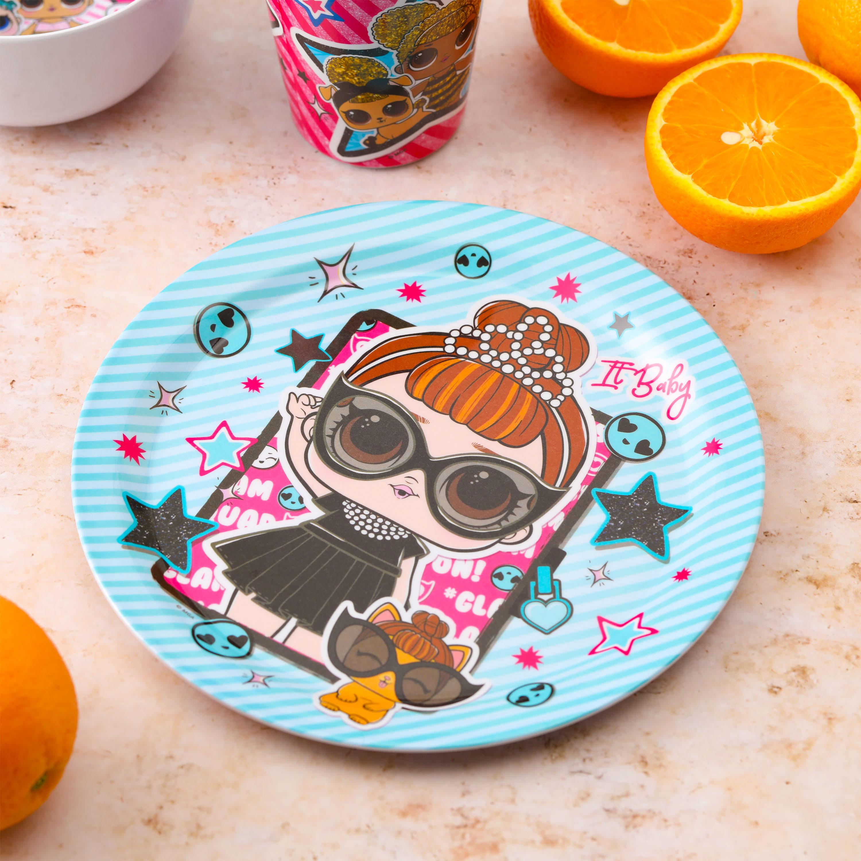 LOL Surprise Kid's Dinnerware Set, Glitter Babies, 3-piece set slideshow image 3