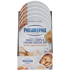 Philadelphia Bagel Chips and Brown Sugar & Cinnamon Cheese Dip 2.5 oz Tray