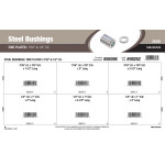 "Zinc-plated Steel Bushings Assortment (7/16"" & 1/2"" Inner diameter)"