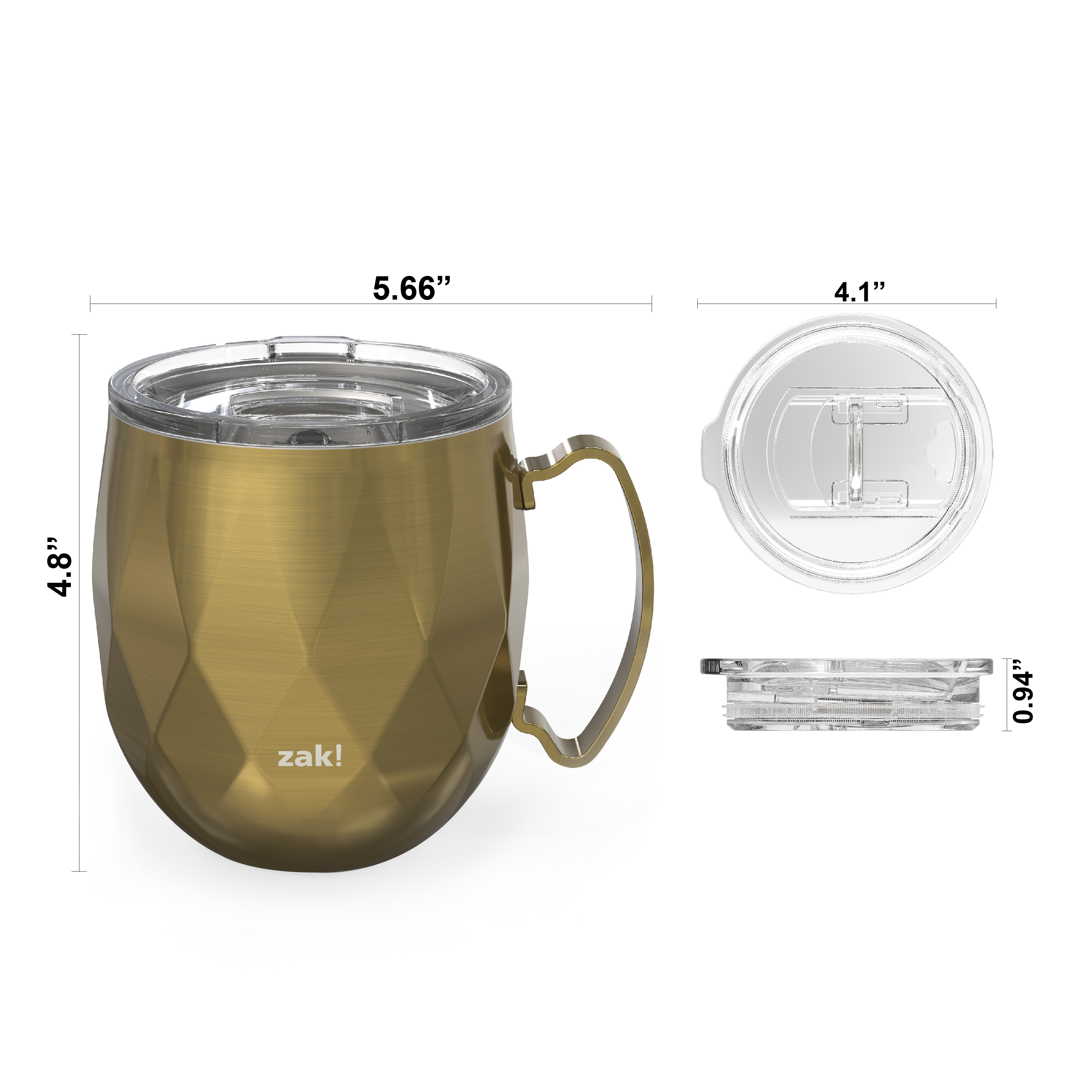 Fractal 19 ounce Vacuum Insulated Stainless Steel Mule Mug, Light Gold slideshow image 10