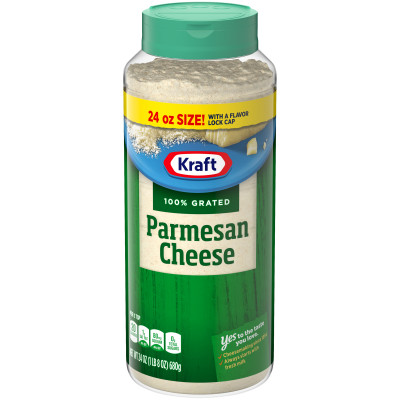 Kraft 100% Grated Parmesan Cheese Shaker 24 oz Bottle