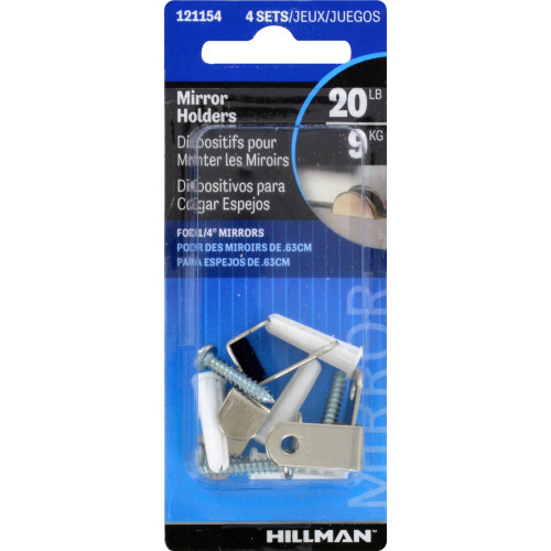 Hillman Felt Lined Hidden Mirror Clips