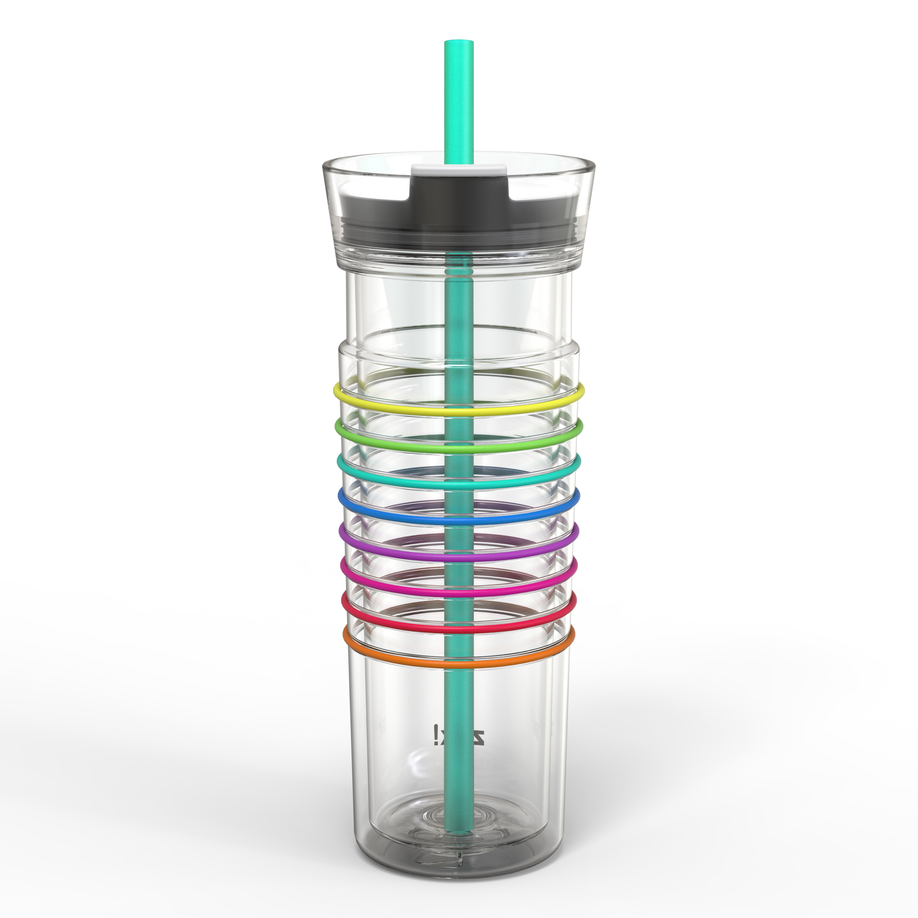 Zak! Hydration 20 ounce Insulated Tumbler, Clear slideshow image 7