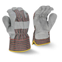 Radians RWG3103 Economy Shoulder Gray Split Cowhide Leather Glove