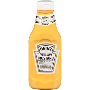 HEINZ Yellow Mustard Bottle, 12.75 oz. Bottles (Pack of 16) image