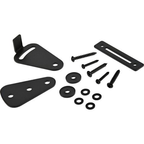 Hardware Essentials Black Interior Barn Door Lock