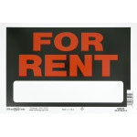 For Rent Sign Black and Red