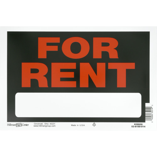 For Rent Sign Black and Red (8
