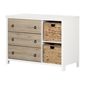Cotton Candy - 3-Drawer Dresser with Baskets