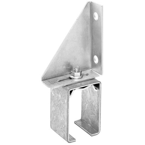 Hillman Galvanized Box Rail Bracket Face Mount Single Splice Adjustable