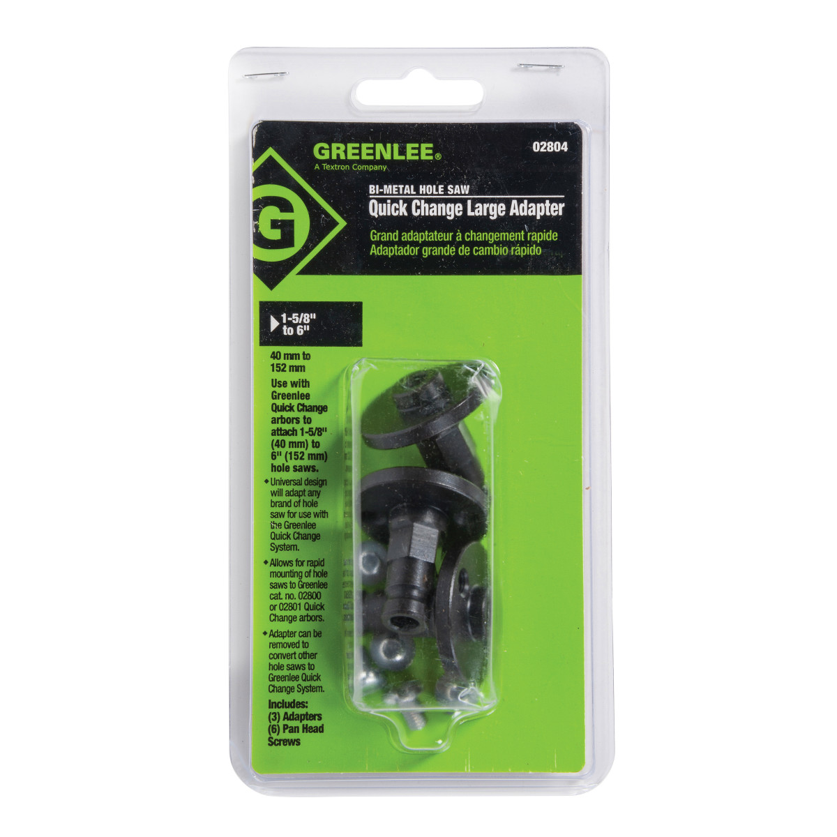 Greenlee 02804 ADAPTER, LARGE-3 PK