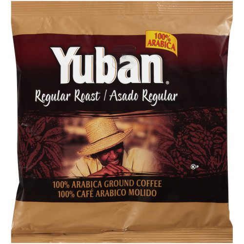 YUBAN Regular Roast & Ground Coffee, 7 oz. Pouches (Pack of 19)