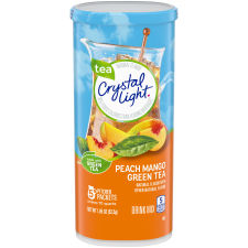 Crystal Light Peach Mango Green Tea Powdered Drink Mix 5 ct 1.85 oz