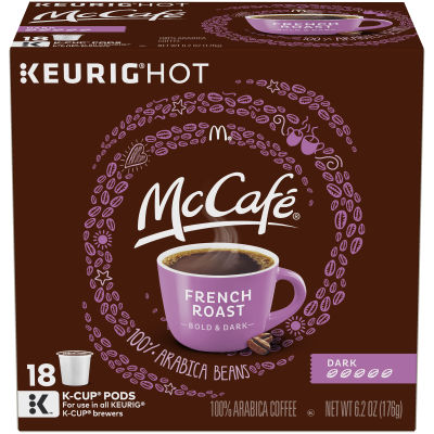 McCafe French Roast Coffee K-Cup Pods, 18 count