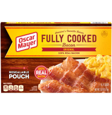 Oscar Mayer Original Fully Cooked Bacon 2.52 oz Box