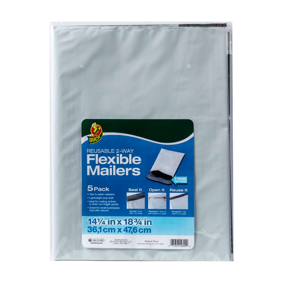 Duck® Brand Reusable 2-Way Flexible Mailers Image