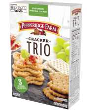 10-ounce packages Pepperidge Farm® Cracker Trio(about 96 crackers)