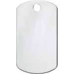 Chrome Small Military ID Quick-Tag