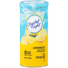 Crystal Light Lemonade Drink Mix, 6 Pitcher Packets, 3.2 oz Canister