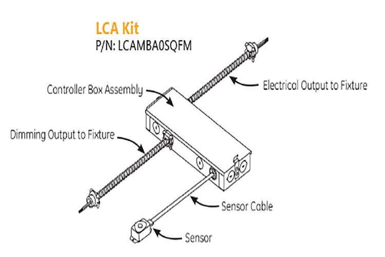 LCA 0-10V Controls Accessory Kit Diagram